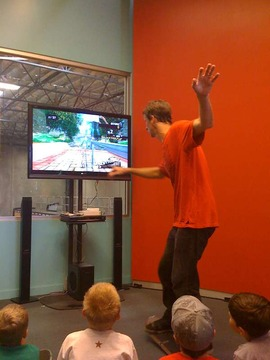 Tony Hawk Demonstrating the ride 2