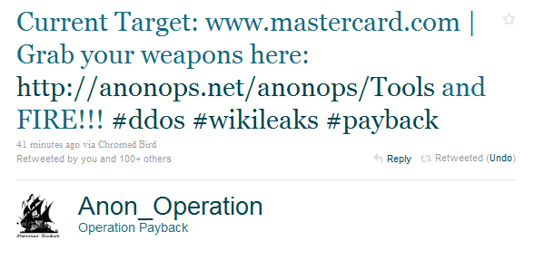 Operation Anonymous on twitter