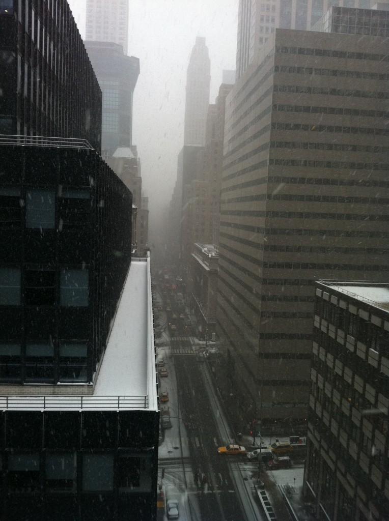 Snow on Lexington Ave